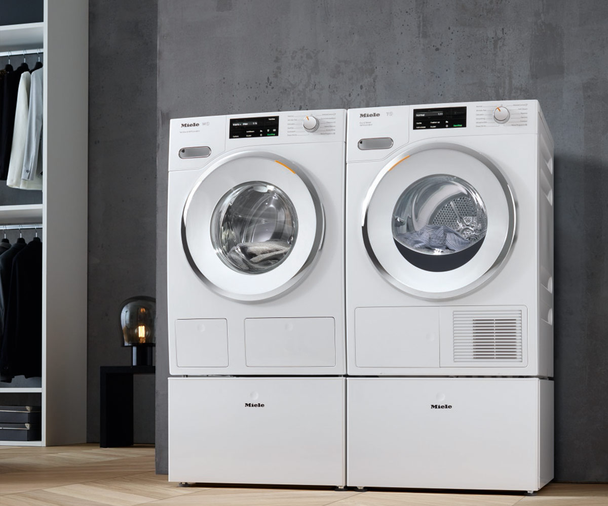 The Miele W1 washing machines and T1 tumble dryers