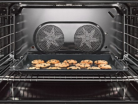 miele dual fuel range oven interior with dual convection