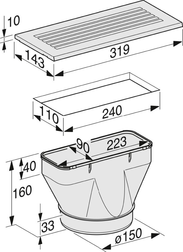 Miele Duu 151 Recirc Conversion Kit For Da 3xxx2xxx