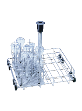 E 355 - Mobile unit for the optimum loading of narrow-neck glassware.--NO_COLOR