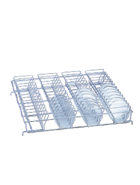 E 137 - Mesh Basket for optimum loading of 56 half petri dishes.--NO_COLOR