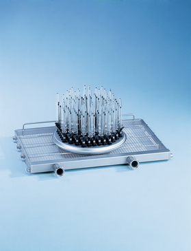 E 947/2 - Module for cleaning 88 centrifuge tubes, phials or test tubes, for example.--stainless steel exterior