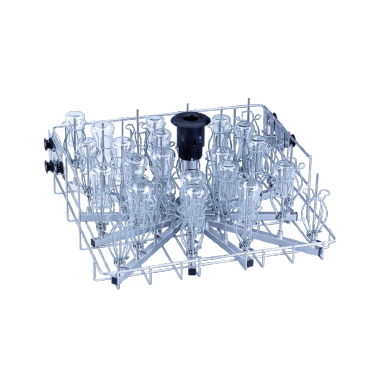 O 187 - Upper basket for the optimum loading of narrow-neck glassware.--stainless steel exterior