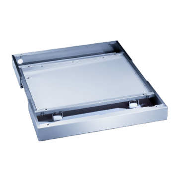 RP 900 - Base, on wheels For machines 36 in. (900 mm) wide, incl. drip tray no openings for floor drain. --stainless steel exterior