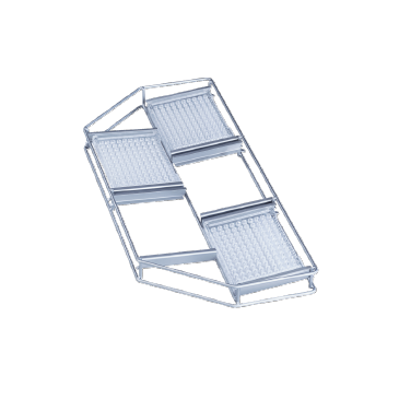 E 494 - Mesh Basket for the gentle holding of 5 microtiter plates.--stainless steel exterior