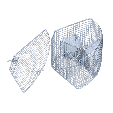 E 104/1 - Mesh Basket for the optimum loading of test tubes up to 12 x 105 mm.--NO_COLOR