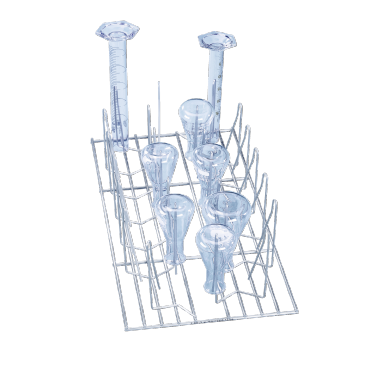 E 106/1 - Mesh Basket for the optimum loading of wide neck flasks, measuring cylinders, etc.--NO_COLOR