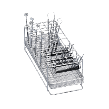 E 337/1 - Mesh Basket for the optimum loading of upright instruments.--stainless steel exterior