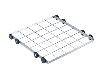 U 876 - Lower basket carrier, stainless steel For inserts or baskets up to 19.7 x 19.7 inches.--stainless steel exterior
