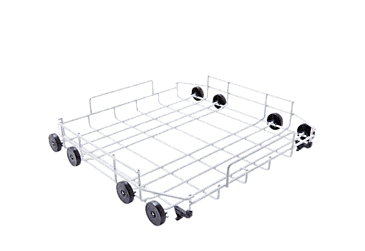 U 890 - Lower basket, plastic coated Without inserts for individual loading options.--NO_COLOR