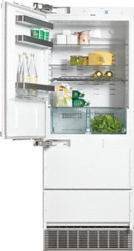 KFN 9855 iDE - PerfectCool fridge-freezer maximum convenience thanks to generous large capacity and ice maker.--
