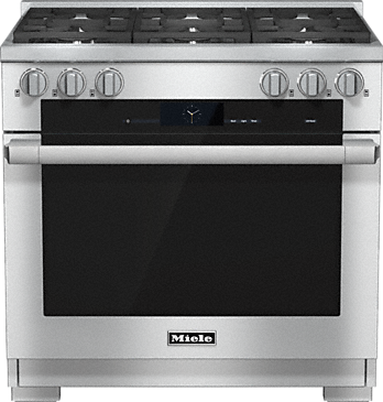 HR 1934-2 LP - 36 inch range Dual Fuel with M Touch controls, Moisture Plus and M Pro dual stacked burners--Stainless steel