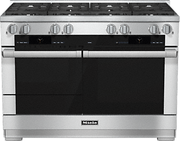 HR 1954 G - 48 inch range Dual Fuel with M Touch controls, Moisture Plus and M Pro dual stacked burners--Stainless steel