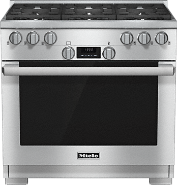 HR 1134-1 G - 36 inch range All Gas with DirectSelect, Twin convection fans and M Pro dual stacked burners--Stainless steel