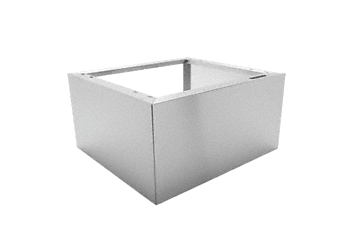 "UG 30-60/80 - Plinth For the ergonomic loading and unloading of a dishwasher - height 12"".--stainless steel exterior"
