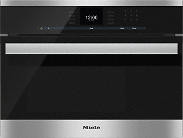 DG 6600 - Built-in steam oven with a large text display and SensorTronic controls for extra convenience.--Stainless steel/CleanSteel