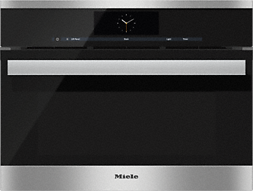 DGC 6805-1 - Steam oven with full-fledged oven function and XL cavity - the Miele all-rounder with mains water connection for discerning cooks.--Stainless steel/CleanSteel
