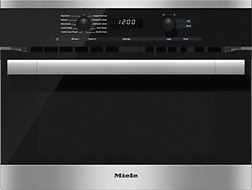 H 6100 BM AM - 24 Inch Speed Oven With electronic clock/timer and combination modes for quick, perfect results.--Stainless steel/CleanSteel