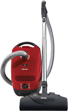 Classic C1 Home Care PowerLine - SBCN0 - canister vacuum cleaners with electrobrush for thorough cleaning of heavy-duty carpeting.--Mango red