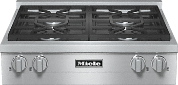 KMR 1124 G - RangeTop with 4 burners for professional applications--Stainless steel
