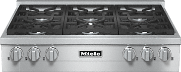 KMR 1134 G - RangeTop with 6 burners for professional applications--Stainless steel