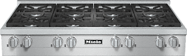KMR 1354-1 LP - RangeTop with 8 burners for professional applications--Stainless steel
