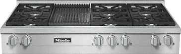 KMR 1355-1 G - RangeTop with 6 burners and grill for versatility and performance--Stainless steel