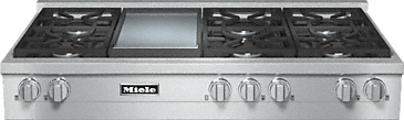 KMR 1356-1 G - RangeTop with 6 burners and griddle for versatility and performance--Stainless steel