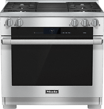 HR 1935-2 G - 36 inch range Dual Fuel with M Touch controls, Moisture Plus and M Pro dual stacked burners--Stainless steel