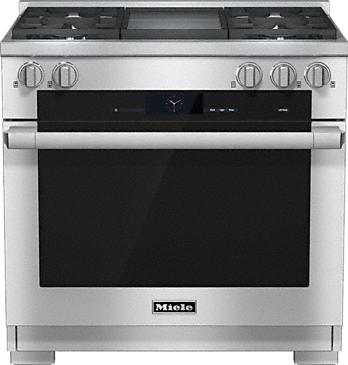 HR 1936-2 G - 36 inch range Dual Fuel with M Touch controls, Moisture Plus and M Pro dual stacked burners--Stainless steel