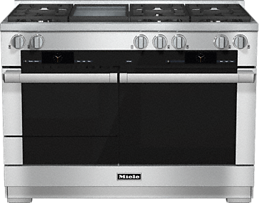 HR 1956-2 G - 48 inch range Dual Fuel with M Touch controls, Moisture Plus and M Pro dual stacked burners--Stainless steel