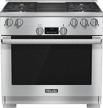 HR 1135 LP - 36 inch range All Gas with DirectSelect, Twin convection fans and M Pro dual stacked burners--Stainless steel