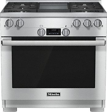 HR 1136-1 LP - 36 inch range All Gas with DirectSelect, Twin convection fans and M Pro dual stacked burners--Stainless steel