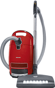 Complete C3 HomeCare+ PowerLine - SGPE0 - canister vacuum cleaners with handle controls and electrobrush for the greatest demands.--Mango red
