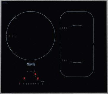 KM 6320 - Induction cooktop with touch controls with PowerFlex cooking area for maximum versatility and performance.--NO_COLOR