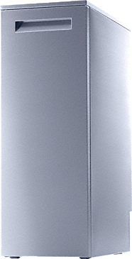 PG 8595 - Aqua purificator for two full or partial demineralization cartridges.--stainless steel exterior