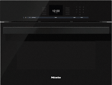 DGC 6600-1 - Steam oven with full-fledged oven function and XL cavity combines two cooking techniques - steam and convection.--Obsidian black