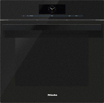 DGC 6865 AM - Steam oven with full-fledged oven function and XXL cavity - the Miele all-rounder with mains water connection for discerning cooks.--Obsidian black