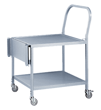 MC/1 - Transfer trolley height adjustable, for loading & unloading washer-&disinfectors.--stainless steel exterior