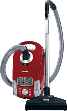 Compact C1 HomeCare PowerLine - SCAE0 - canister vacuum cleaners with turbo brush for hard floor and low, medium-pile carpeting.--Mango red