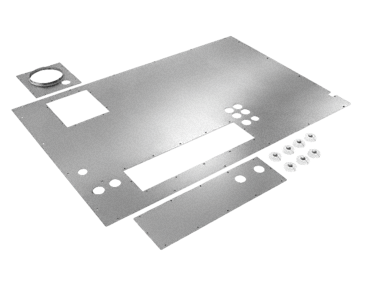 ALWD MAVL 27/28 - Cover plate For the top cover on the cladding for models PG 8527 and PG 8528.--Stainless steel