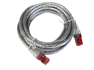 APH 406 - Network cable for connection to the network, length 3 m (type 6).--transparent