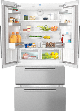 KFNF 9955 iDE -  maximum convenience thanks to generous large capacity and ice maker.--NO_COLOR