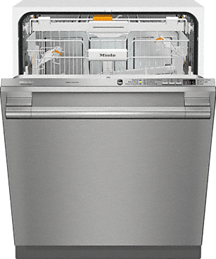 G 6665 SCVi SF AM - Fully-integrated, full-size dishwasher with hidden control panel, 3D+ cutlery tray and CleanTouch Steel panel--Stainless steel/CleanSteel