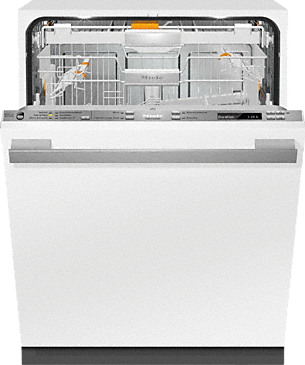 G 6875 SCVi AM - Fully-integrated, full-size dishwasher with hidden control panel, 3D+ cutlery tray, custom panel and handle ready--Stainless steel/CleanSteel