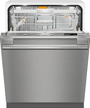 G 6875 SCVi SF AM - Fully-integrated, full-size dishwasher with hidden control panel, 3D+ cutlery tray and CleanTouch Steel panel--Stainless steel/CleanSteel