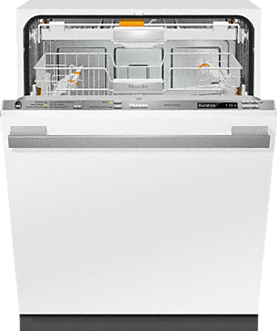 G 6785 SCVi AM - Fully-integrated, full-size dishwasher with hidden control panel, 3D+ cutlery tray, custom panel and handle ready--Stainless steel/CleanSteel