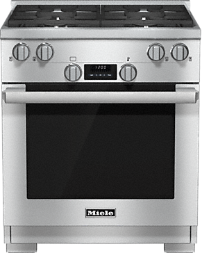 HR 1724 LP - 30 inch range Dual Fuel model with DirectSelect controls.--Stainless steel
