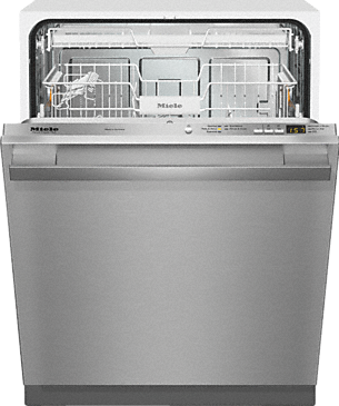G 4977 SCVi SF AM - Fully-integrated, full-size dishwasher with hidden control panel, cutlery tray and CleanTouch Steel panel--Stainless steel/CleanSteel