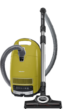 Complete C3 Calima PowerLine - SGFE0 - canister vacuum cleaners with HEPA filter for the greatest Filtration demands.--Curry Yellow